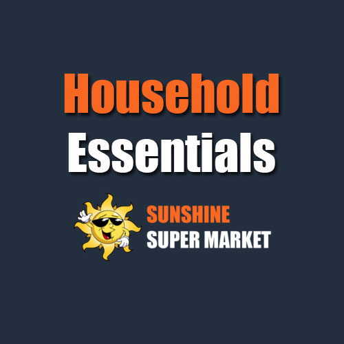 Sunshine Supermarkets Household Essentials menu