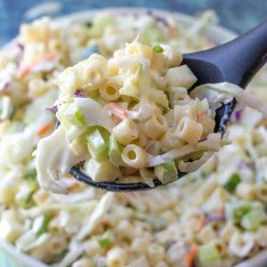pasta macaroni coleslaw