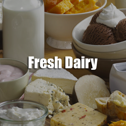 Sunshine Supermarkets fresh dairy menu