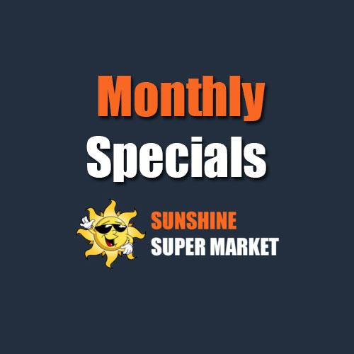 Sunshine Supermarkets monthly specials menu