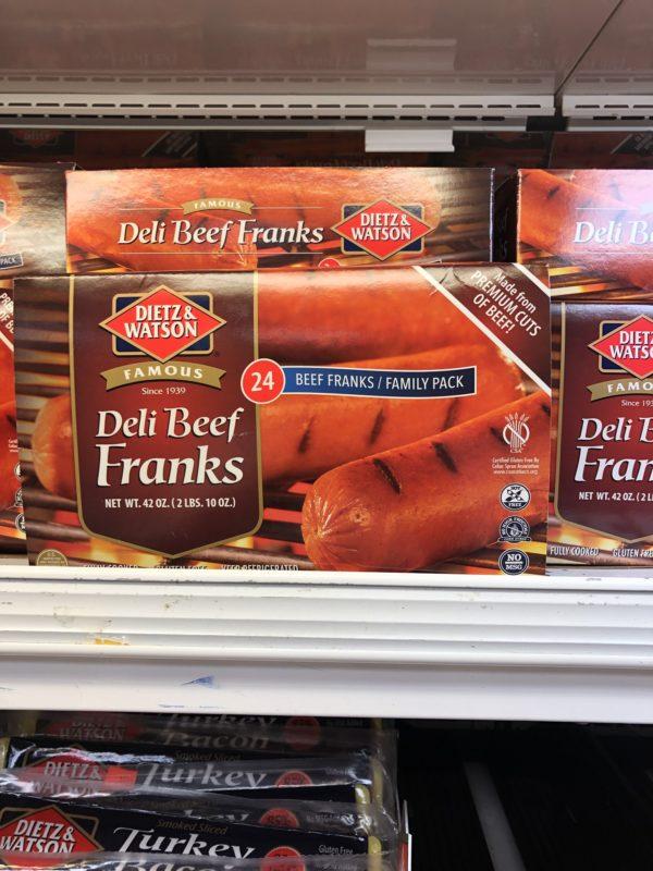 dietz & watson deli beef franks