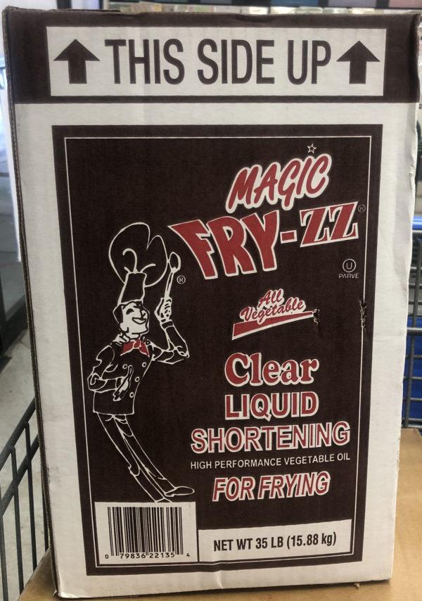 magic fry-zz clear liquid shortening