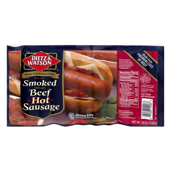 smoked beef hot sausage